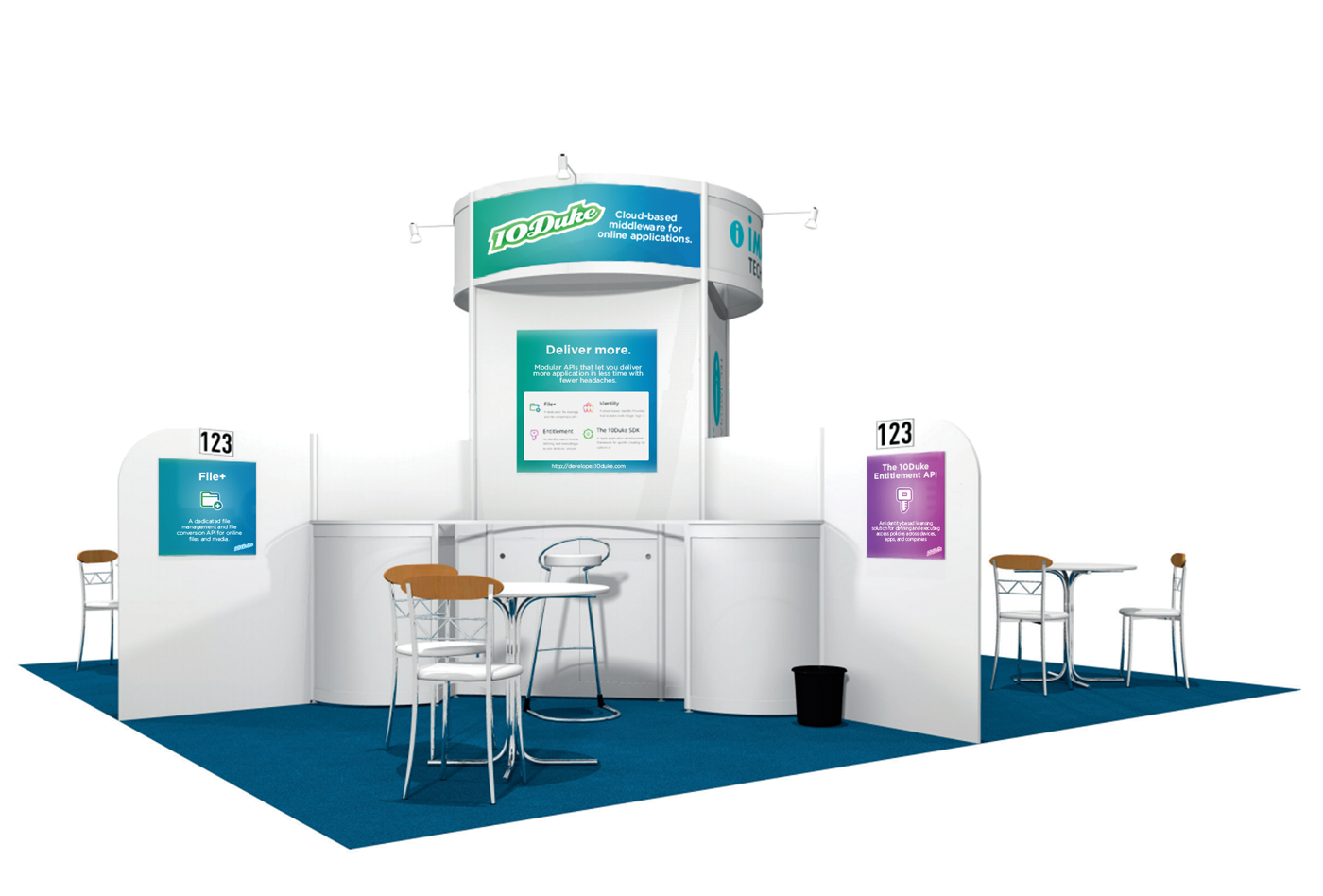 Panels for a stand in IP Expo 2014