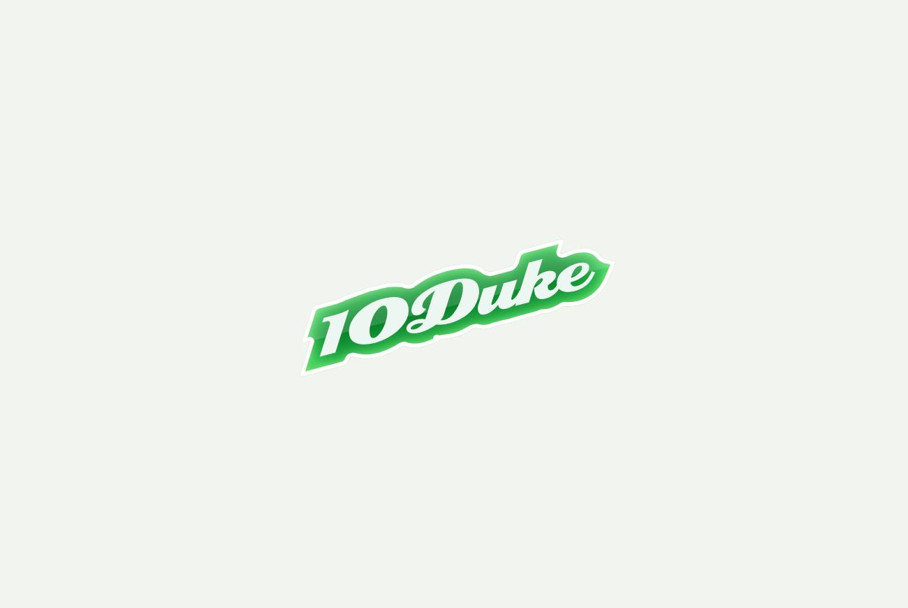 I created the original 10Duke logo in 2007